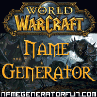 Get your own wow name from the wow name generator!