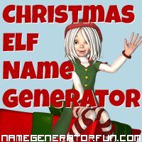 Get your own Christmas elf name from the Christmas elf name generator!