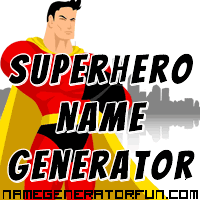 Get your own superhero name from the superhero name generator!