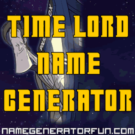 About Time Lord Names